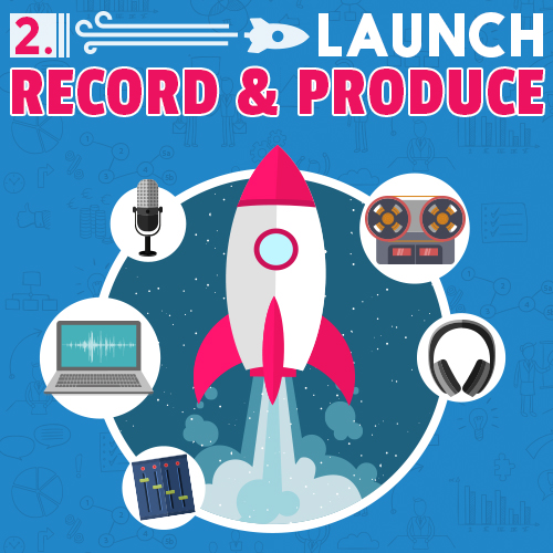 launch 2: record and produce