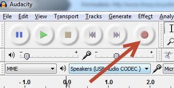 Recording button