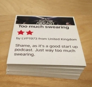 Podcast merch - A Scottish Podcast beer mats