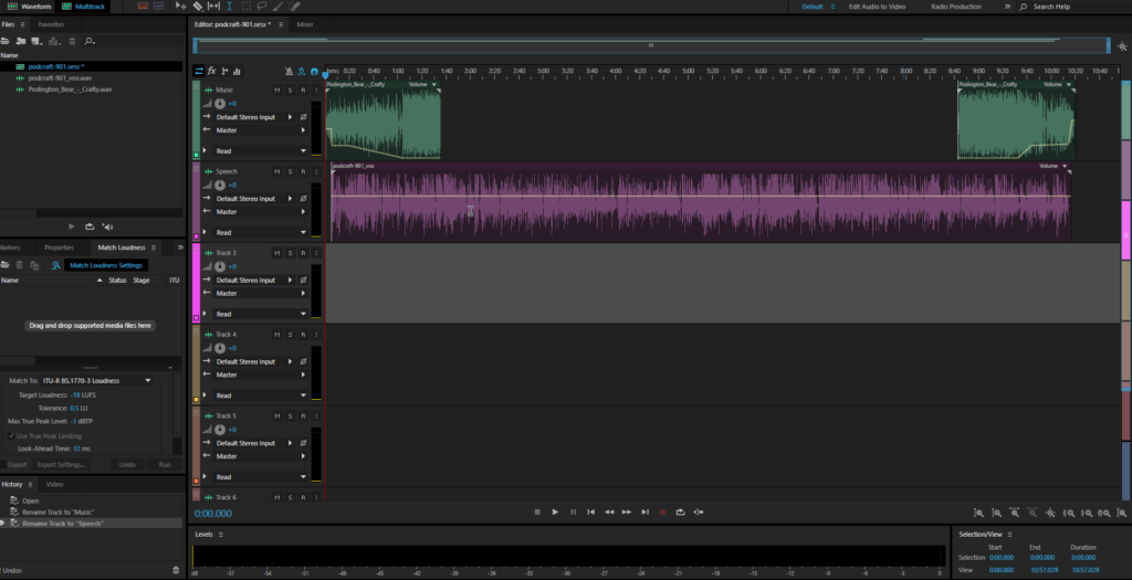 Recording your podcast with Adobe Audition CC