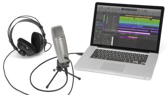 Samson CO1U Pro microphone setup