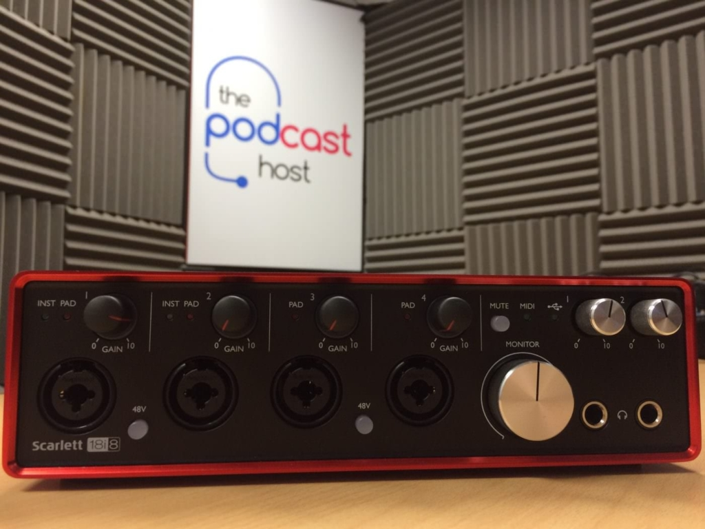 Podcast kit: Focusrite Scarlett 18i8 interface