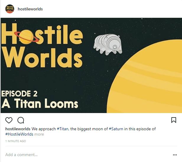 Hostile Worlds on Instagram