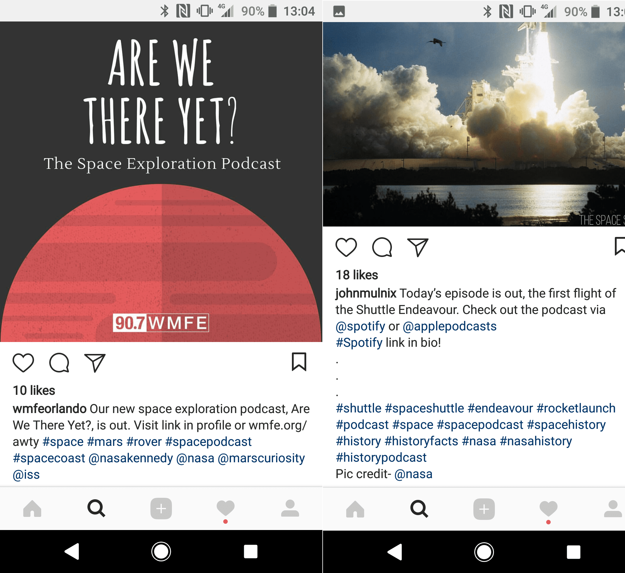 Proof of how hashtags work on Instagram