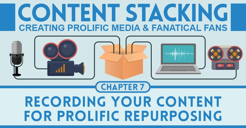 recording your content for prolific repurposing