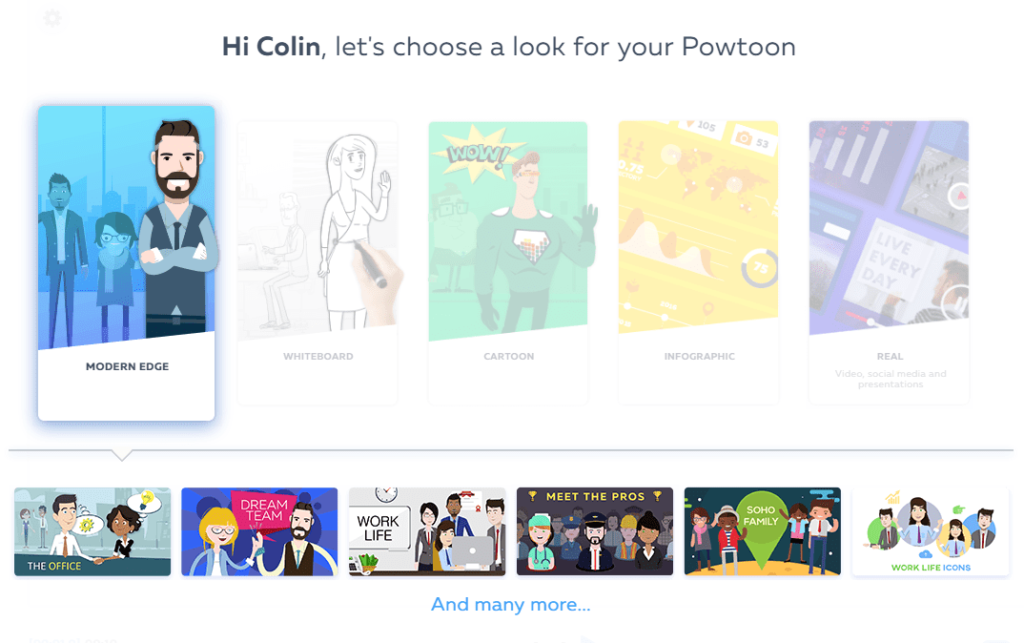 Selecting Your Style On Powtoon When Animating Your Podcast