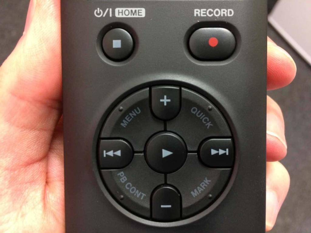 Tascam DR-05 menu bottons
