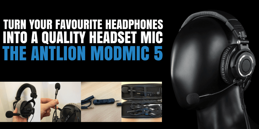 Turn Your Favourite Headphones Into a Quality Headset Mic - The Antlion ModMic 5
