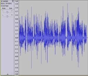 Sound levels in Audacity