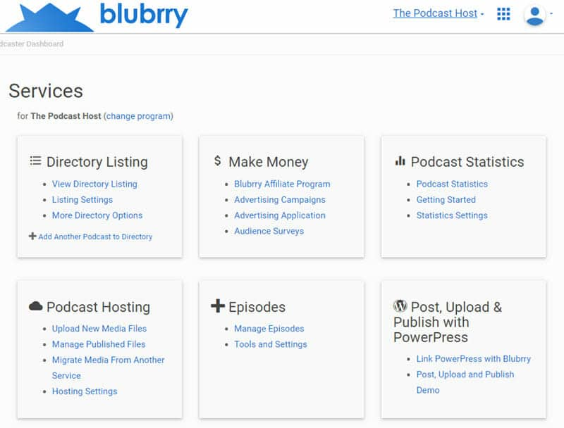 buzzsprout vs blubrry: the blubrry hosting dashboard