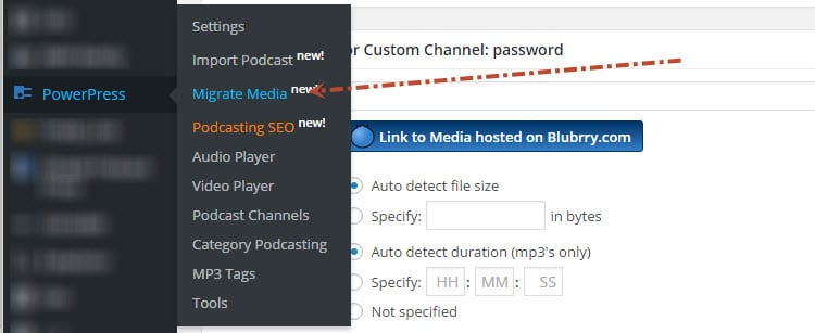 migrate media to blubrry
