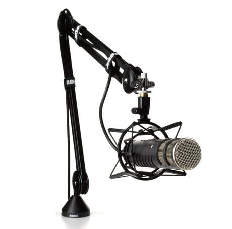 rode podcasting microphone boom arm