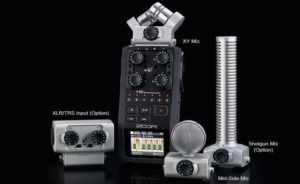 zoom h6 digital recorder microphones