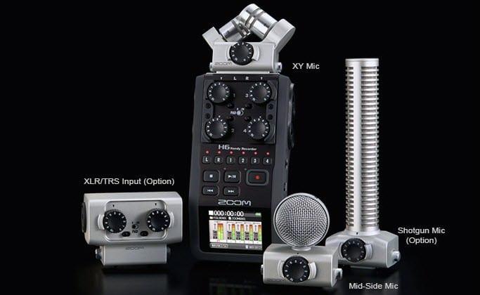 zoom h6 digital recorder microphones