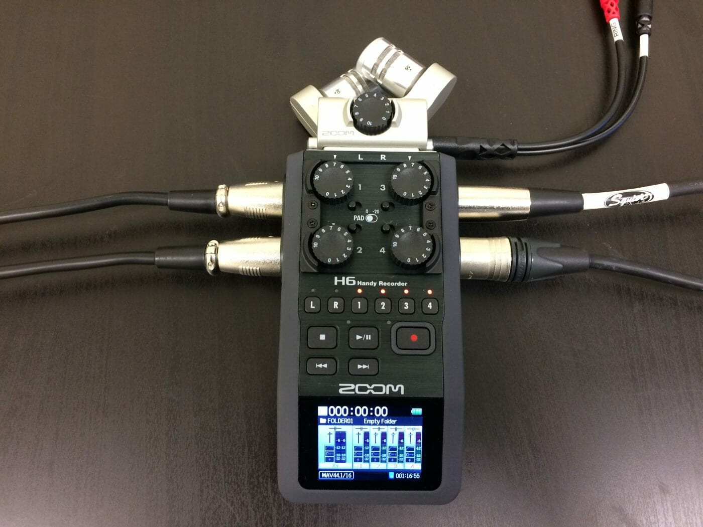 Zoom H6 with 6 mics