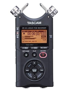 tascam DR-40X podcast recorder