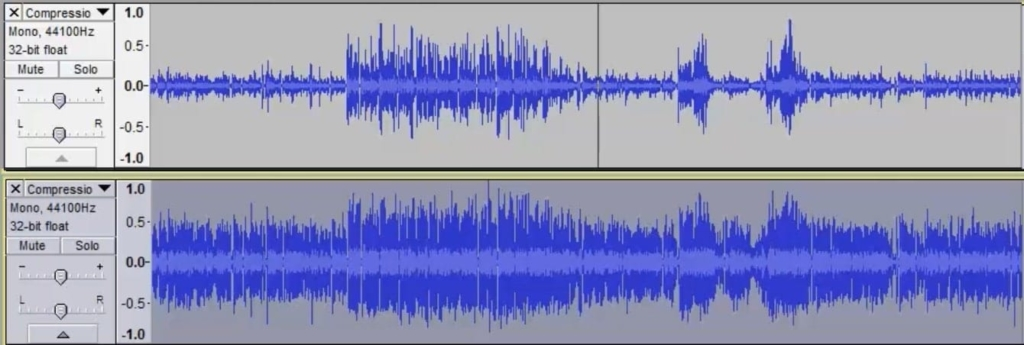 Audacity Compressor Before and After