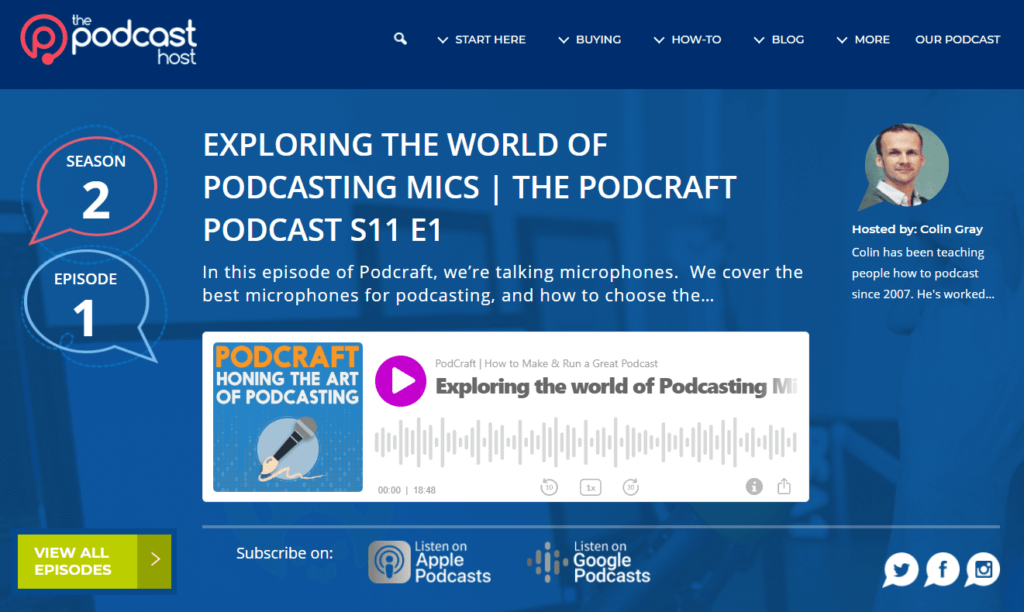 how to link to a podcast using a great website player page