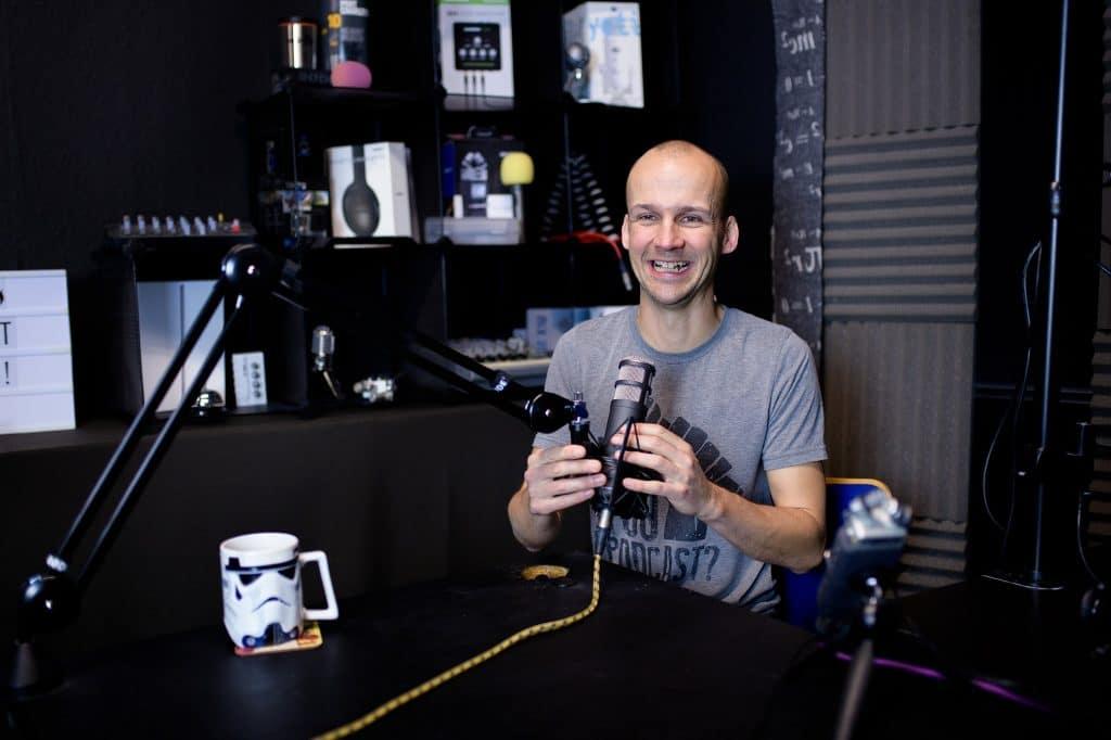 Colin Gray in the podcast studio