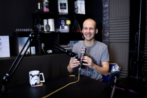 Colin Gray in the podcast studio
