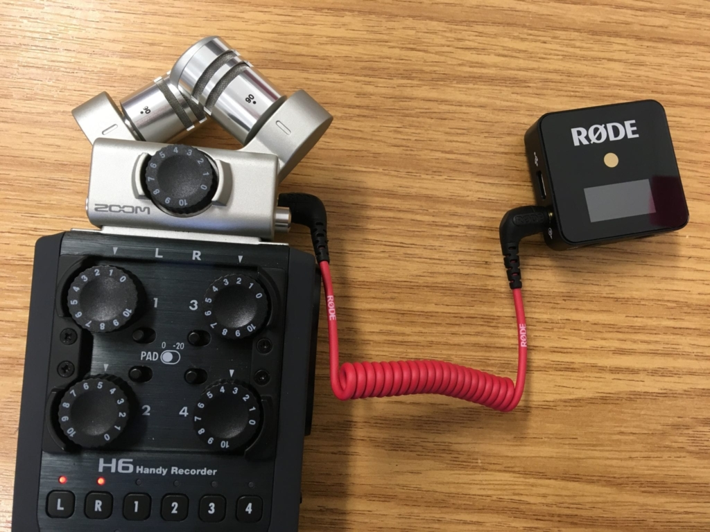 Rode wireless Go With Zoom H6