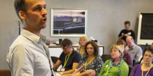 Speaking at UKPOD14