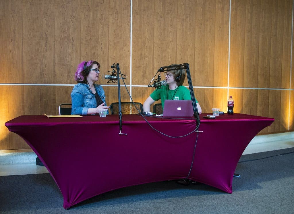 Podcasting at a conference