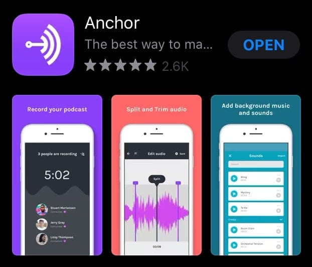 Anchor app iOS