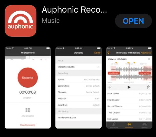 Auphonic Recorder app