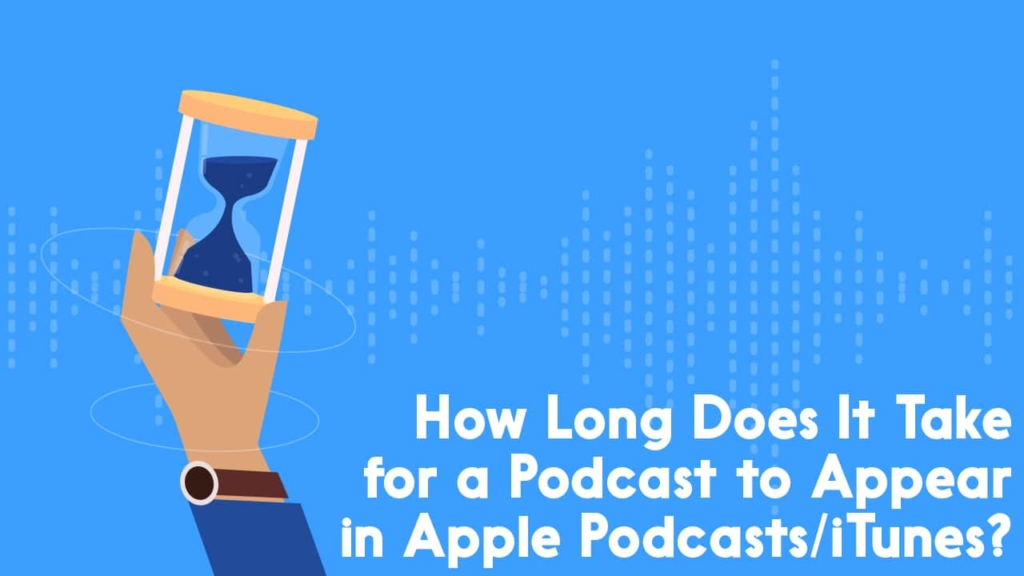 how long does it take for a podcast to appear in itunes