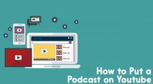 how to put a podcast on youtube