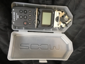 Zoom H5 digital podcast recorder in carry case