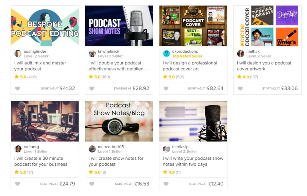 what is fiverr? fiverr podcast services