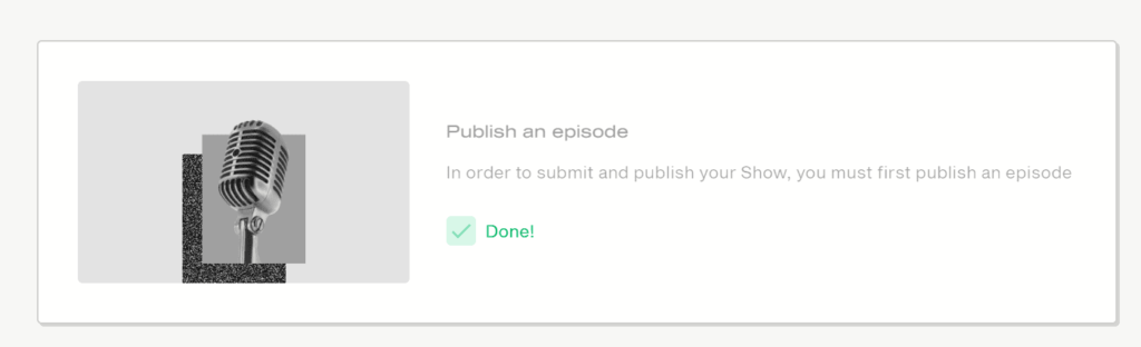 Publish an episode - editorial workflow