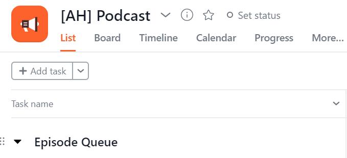 Podcast episode queue