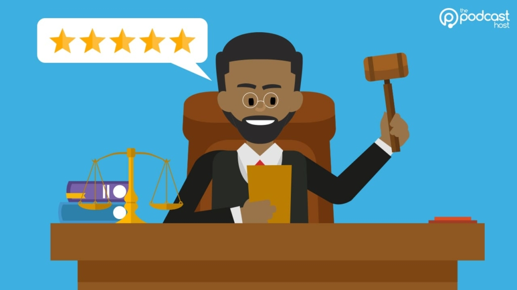 podcast judge 5 star review