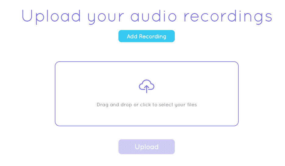 Upload your recordings