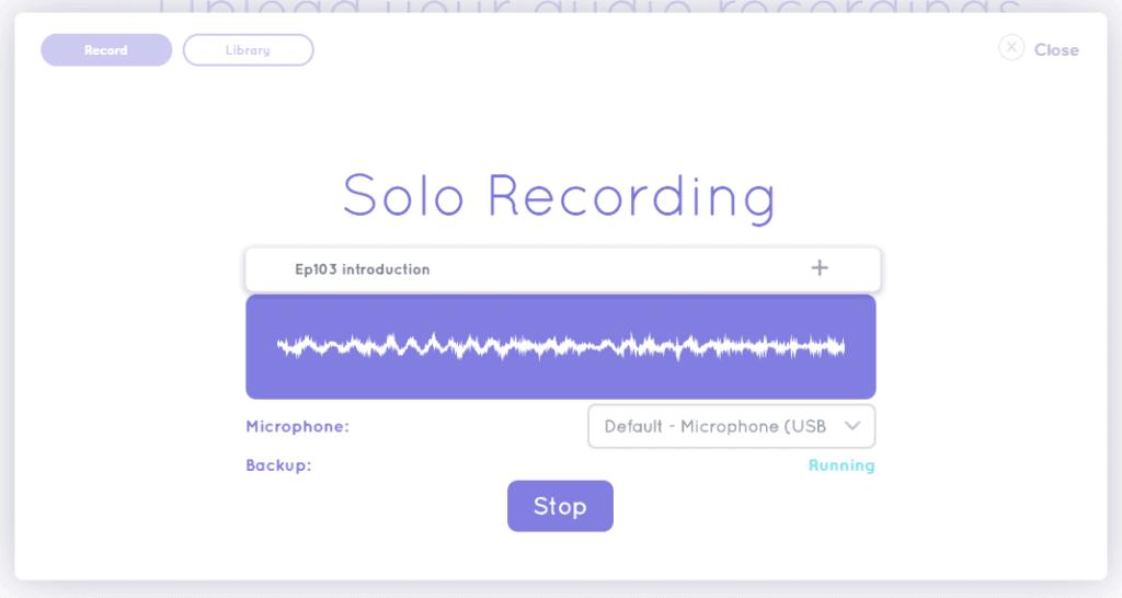 Solo recording