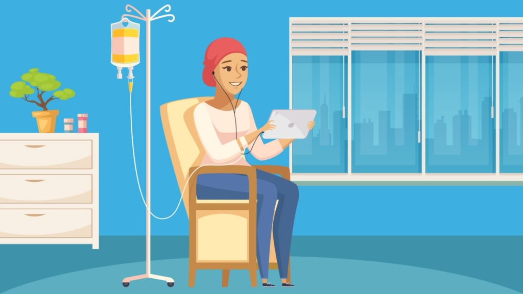 listening while in medical treatment or recovery