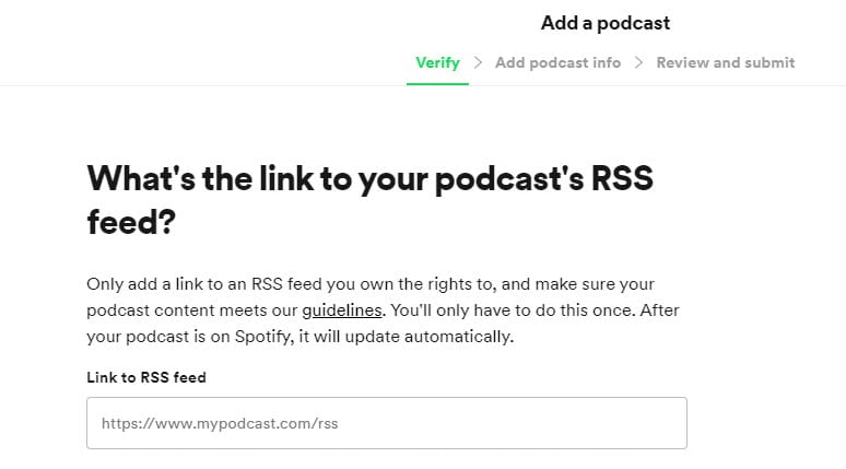 add rss feed to Spotify