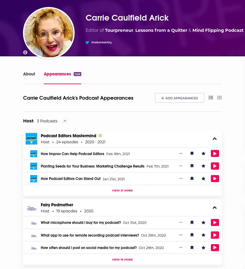 Podchaser Creator Profile: Podchaser as an audio resume