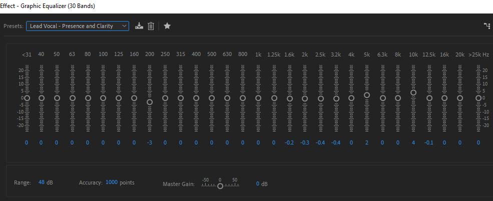 Audio EQ in Adobe Audition