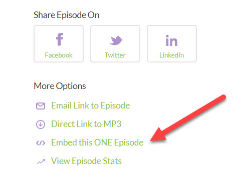 how to upload a podcast episode and publish it on your own website via the buzzsprout embed code